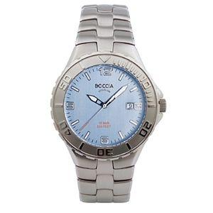 Boccia Baby Blue Dial All-Titanium Watch - 3503-01