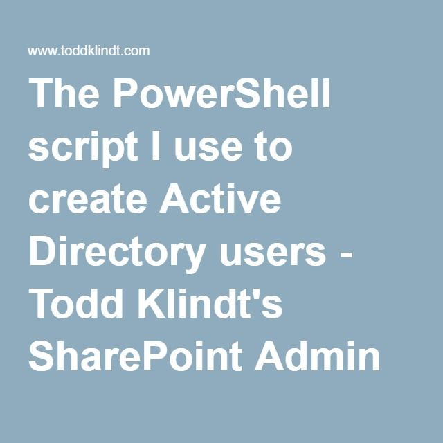 how to create test users in active directory