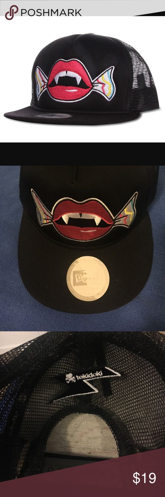 Tokidoki x New Era Candy Lips Snap back Snap Back hat with Tokidoki's Candy Lips image. Adjustable, one size fits all tokidoki Accessories Hats