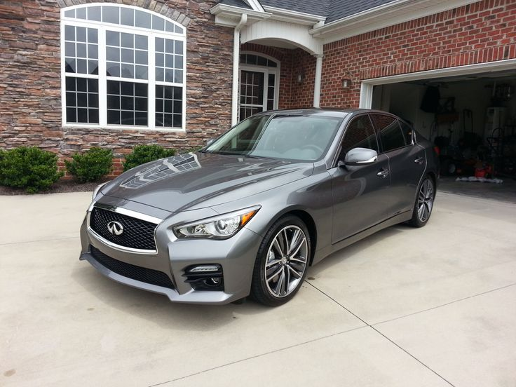 Midnight Black Grill Installed! - 2014 Infiniti Q50