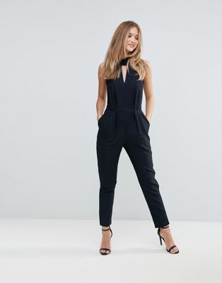 699d8b3527ec Closet High Collar Blue Metallic Jumpsuit