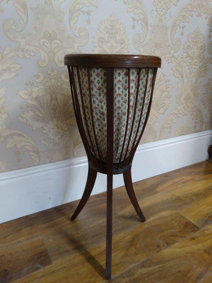 Elegant Very Pretty Antique French Bentwood Waste Paper Basket, Knitting Basket |  EBay