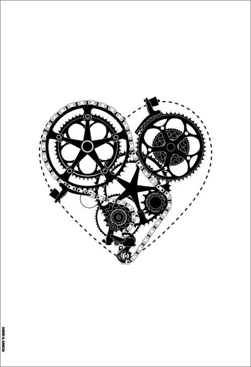 #biker heart #bike love #bike philosphy    The surest thing in our life- love for bikes.
