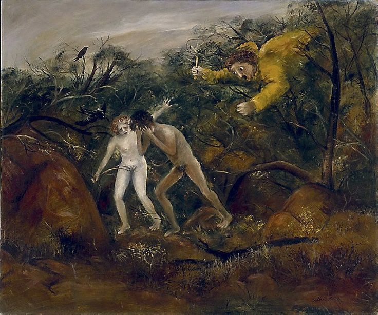 The expulsion, (1947-1948) by Arthur Boyd :: The Collection :: Art Gallery NSW