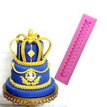 1ks krásné květiny strana Tvar bábovka Cake dokončovací práce Mold silikonové formy fondant Silikonová Cake Nástroje E019 (Čína (pevninská část))