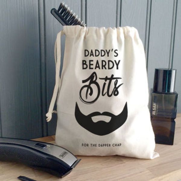 A stylish storage solution for all of his 'beardy bits', A perfect way to encourage him to keep the bathroom tidy and all his beardy tools in one safe place.