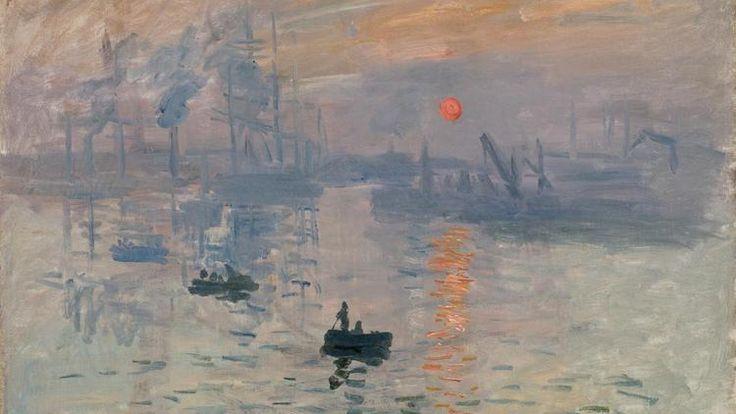 Impressão, nascer do sol, 1872 Claude Monet (França, 1840-1926) óleo sobre tela,  48 x 63 cm Museu Marmottan Monet, Paris