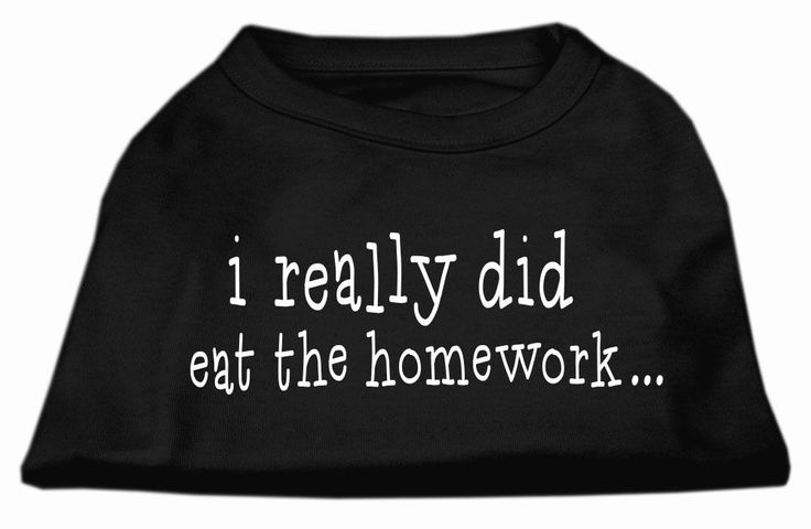 I really did eat the Homework Screen Print Shirt Black XL (16)