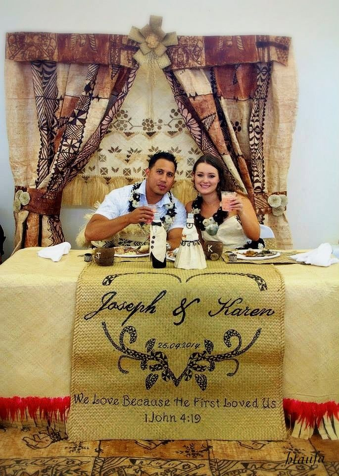 Tongan wedding designed by H.Taufa