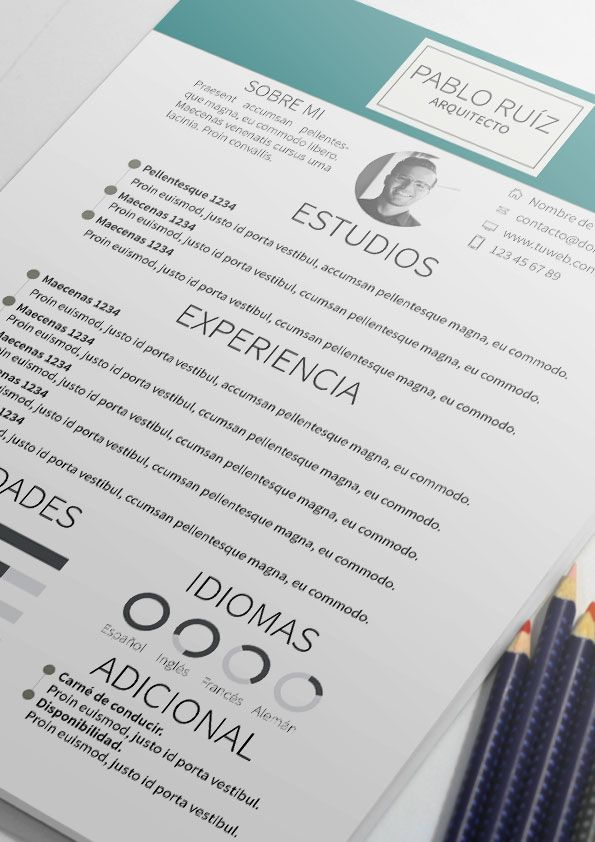 Curriculum Vitae modelo Cala | Plantillas de currículum                                                                                                                                                      Más