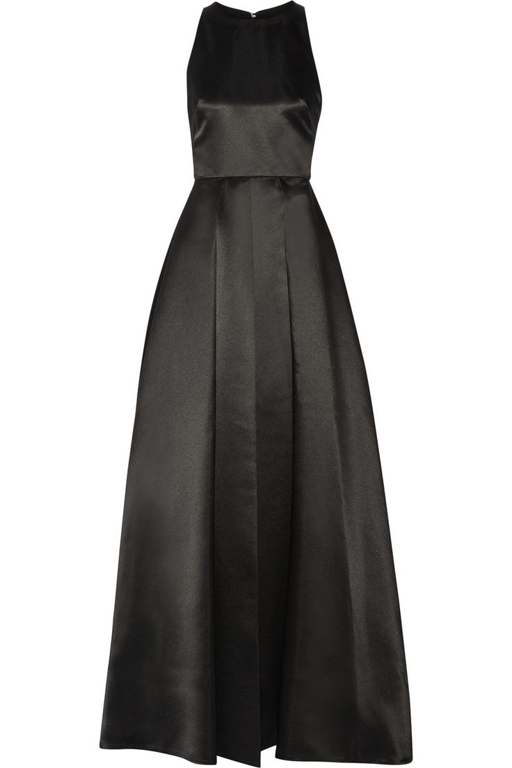 Alice + Olivia|Clarebelle layered duchesse-satin gown|NET-A-PORTER.COM