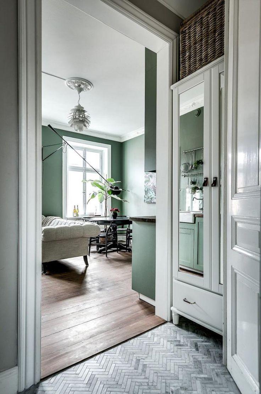 Les 25 meilleures id es de la cat gorie peintures couleur vert menthe sur pin - Quelle couleur sur les murs pour agrandir une piece ...