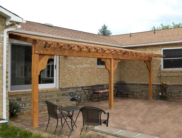 Attached Pergola Plans Enjoy Patio Shade And Airiness With