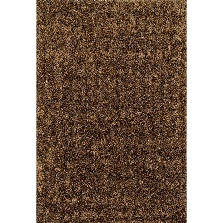 Alexander Home Caldera Hand-tufted Brown Shag Rug (5' x 7'6) (Caldera Brown Shag (5'0 x 7'6)) (Polyester, Solid)