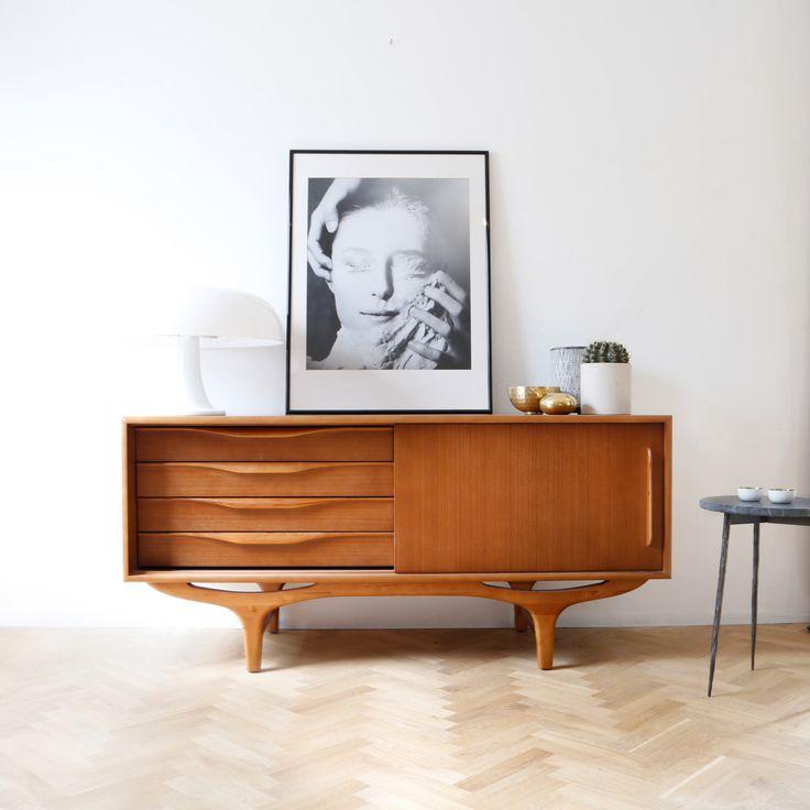 Aparador de mediados del siglo - aparador vintage - 50s 60s aparador danés de aparador - muebles de diseño danés - - mueble retro de Furnified en Etsy https://www.etsy.com/es/listing/501823163/aparador-de-mediados-del-siglo-aparador