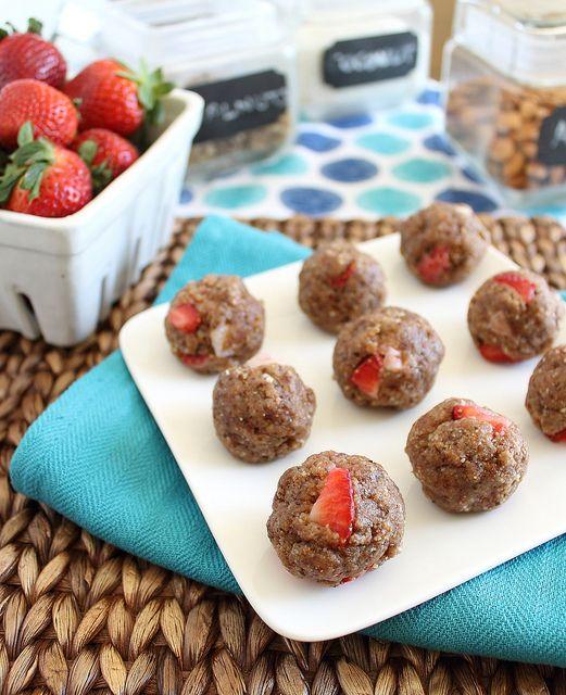 No bake strawberry vanilla cookies | Recipe | Paleo, Protein and ...