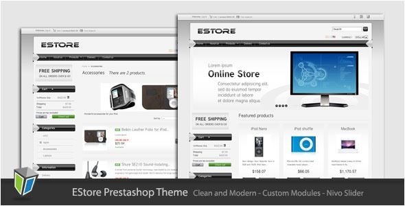 EStore - Clean and Modern Prestashop Theme