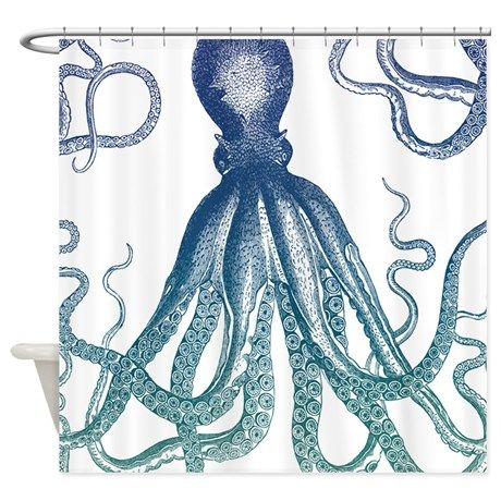 Blue Octopus Shower Curtain on CafePress.com