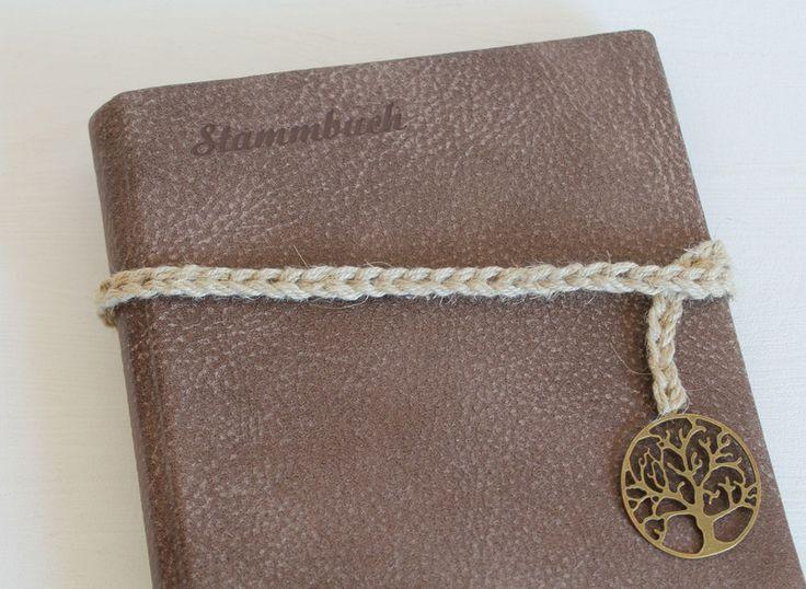 Hochzeitsgästebuch - Stammbuch ♥BAUM♥ DIN A5 aus Büffelleder braun - ein Designerstück von Ivona bei DaWanda