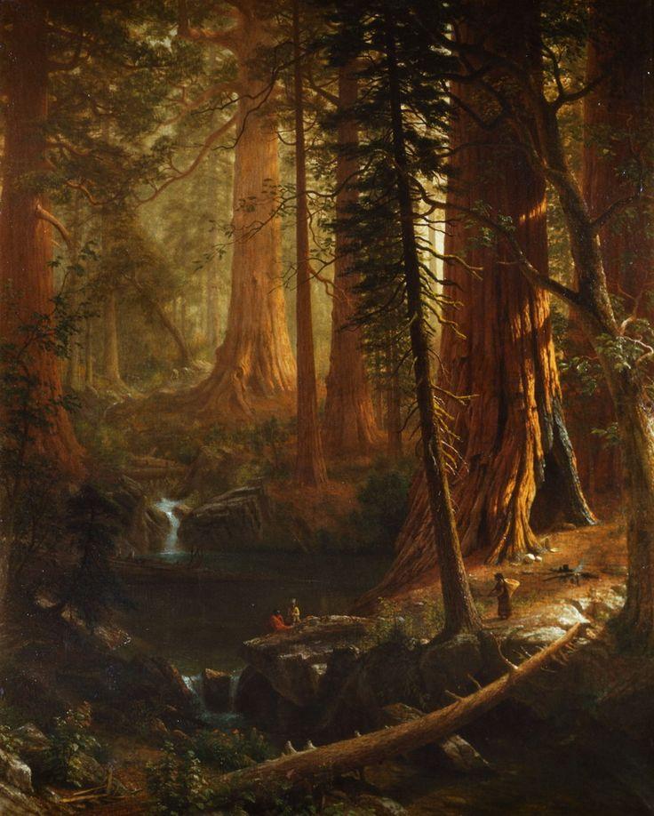 Albert Bierstadt (1830 - 1902), German-American, California Redwoods