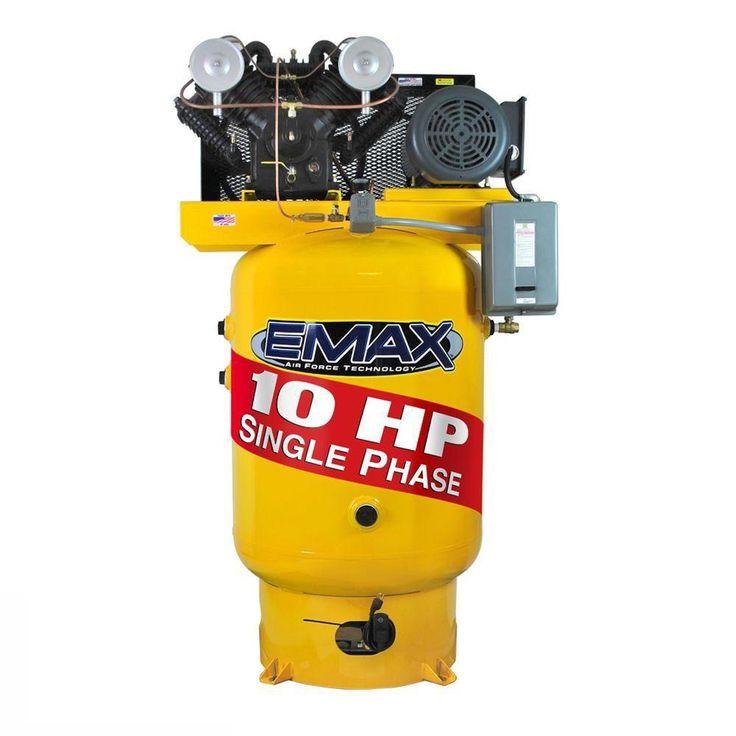 Industrial Plus Series 120 Gal. 10 HP 1-Phase Vertical Air Compressor
