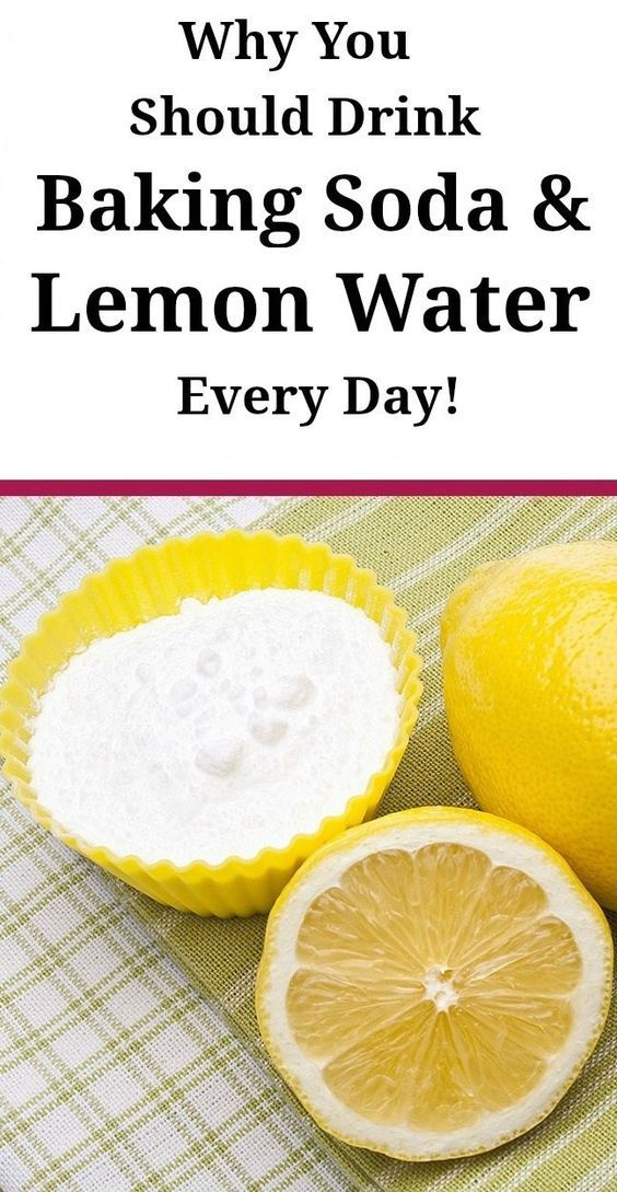 THIS IS WHY YOU SHOULD DRINK BAKING SODA  LEMON WATER EVERY DAY!