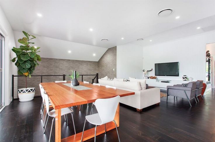 This beautiful open plan living/dinning room in Brisbane is the perfect combination of class and style!