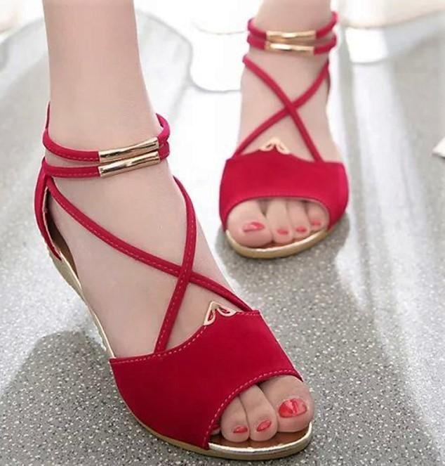 c2114daedd74 Women s Wedge Heel Flock Peep Toe Zipper Sandals