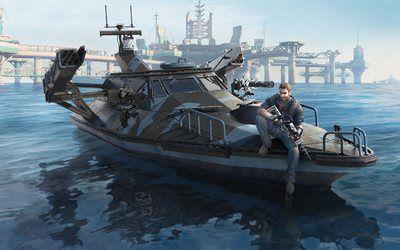 Scarica sfondi Just cause 3, Bavarium Mare Heist, DLC, Avalanche Studios, Square Enix