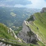 View from cable car in luzern switerland