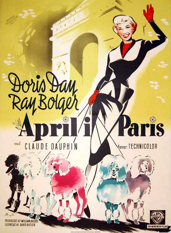 The Films of Doris Day - April in Paris. My mother was a travel agent, and EVERYBODY wanted to go to Paris in April after that movie came out. She tried in vain to explain to them that April there was cold and nothing was blooming yet. The songwriters admitted later that they had never been to Paris in April - it just SOUNDED lovely....