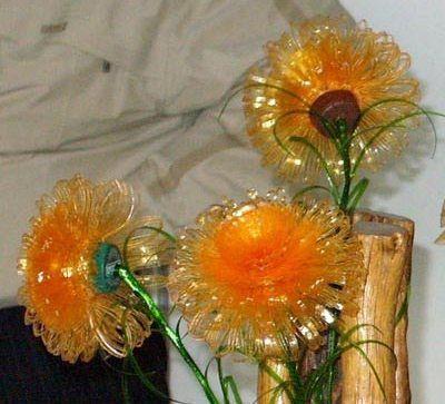 Цветы астры из пластиковых бутылок - поделки своими руками