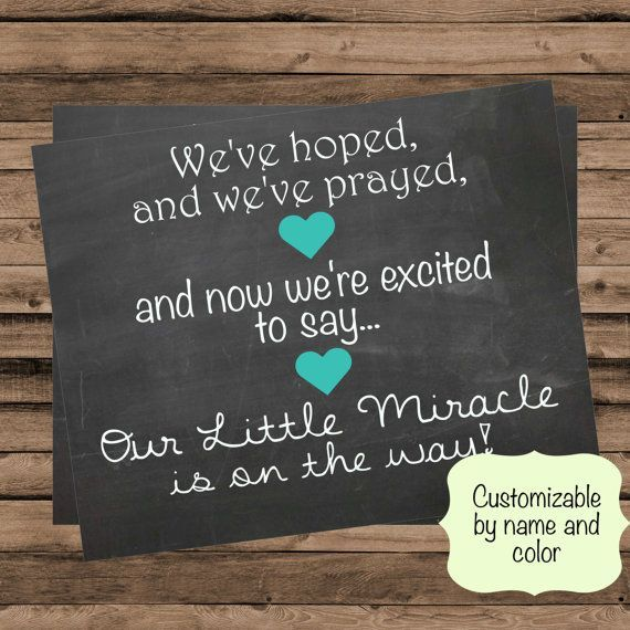 Customizable Pregnancy Announcement Hoped and by ForrFunPrints – Baby Announcment
