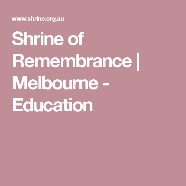 Shrine of Remembrance | Melbourne - Education