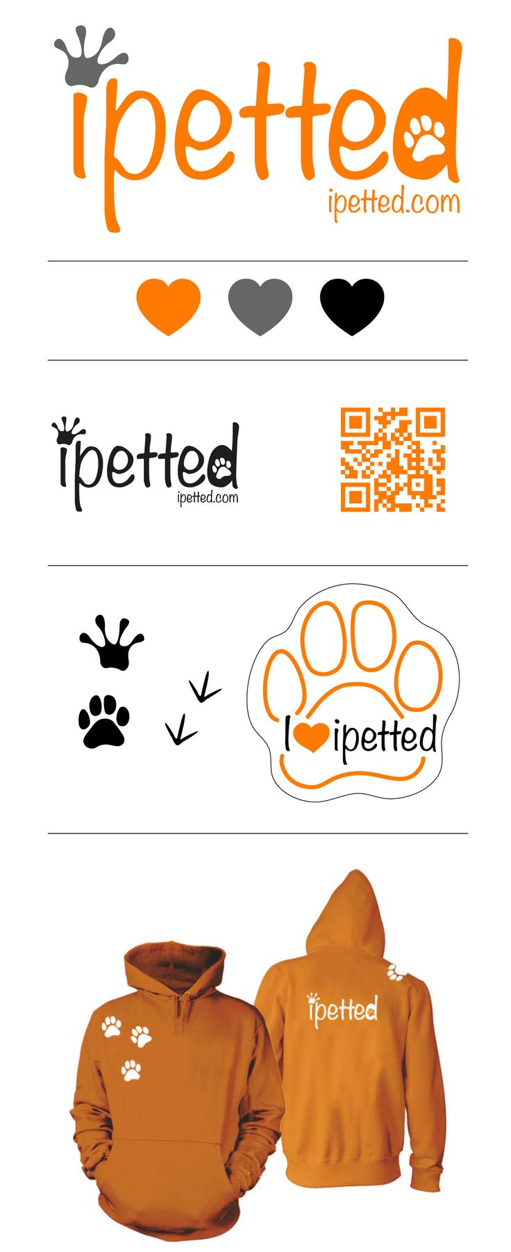 Diseño de imagen corporativa para Red Social de Mascotas. Pajarita Make up.By kata