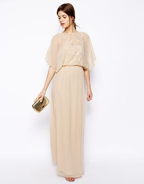 Enlarge ASOS Applique Flutter Sleeve Maxi Dress -- beautiful for bridesmaid