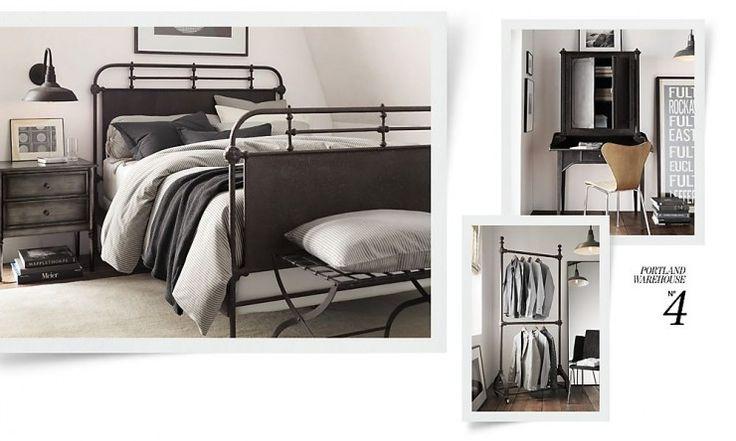 Best 25 industrial bed ideas on pinterest industrial - Industrial style bedroom furniture ...