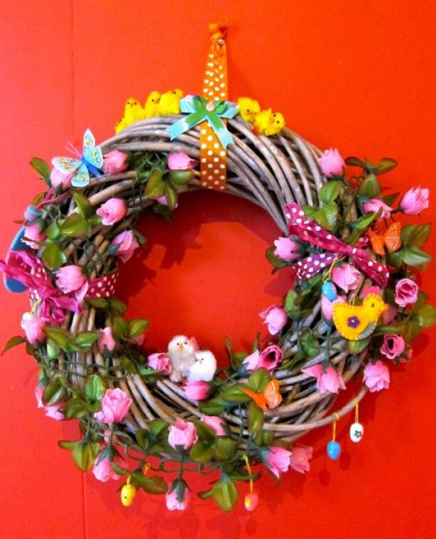 Wreath for Easter or Spring - Krans voor Pasen of Lente