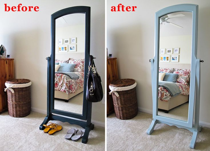 Stand Mirror Refinish   Before U0026 After! New Paint Color: Sherwin Williams  Quietude