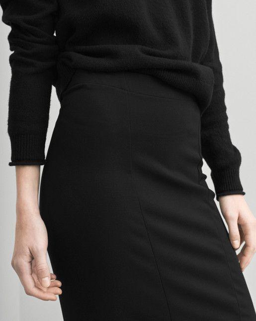 Firm Jersey Pencil Skirt