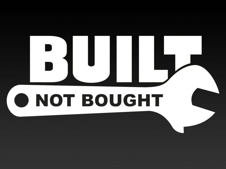 Built not bought 200mm funny car vinyl sticker
