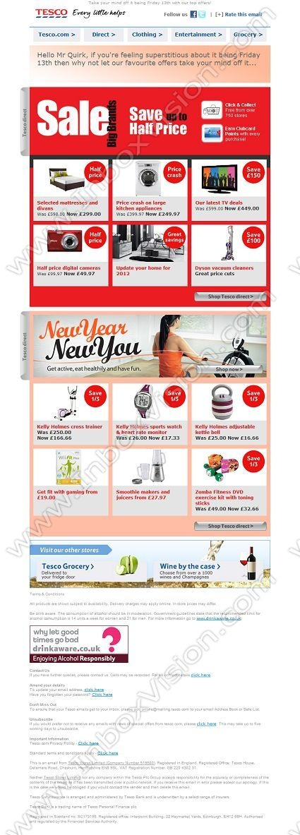 Company: Tesco Stores   Subject: Save up to half price on the Tesco direct Big Brands Sale!            INBOXVISION, a global email gallery/database of 1.5 million B2C and B2B promotional email/newsletter templates, provides email design ideas and email marketing intelligence. www.inboxvision.c... #EmailMarketing  #DigitalMarketing  #EmailDesign  #EmailTemplate  #InboxVision  #SocialMedia  #EmailNewsletters