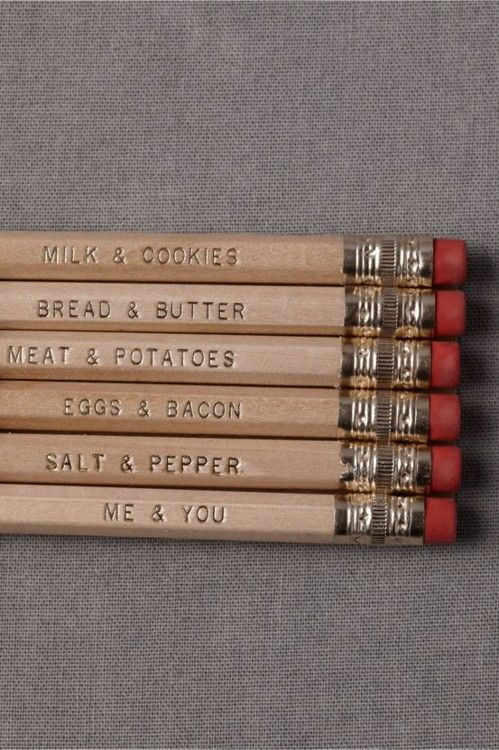 Perfectly Paired Pencils (6) as a party favor