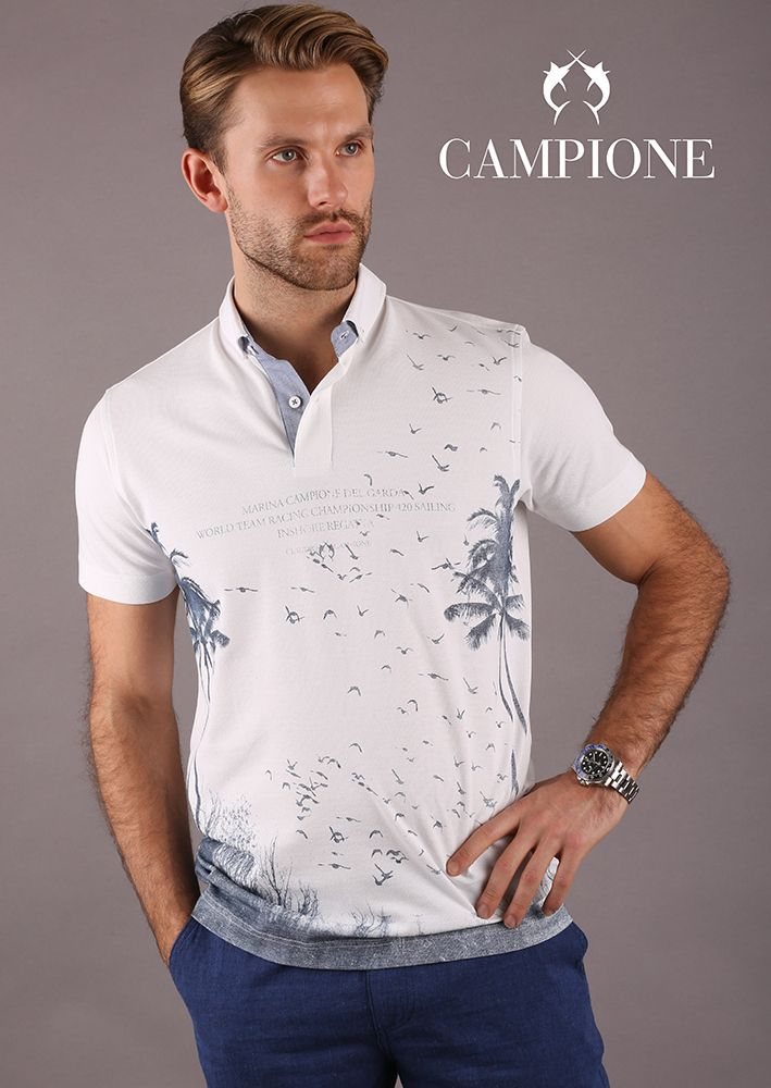 Das modische Poloshirt begeistert mit der besonders hochwertigen Verarbeitung und der soften Baumwollqualität mit natürlichem Strecheffekt.