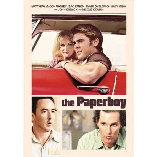 The Paperboy - DVD.  It takes audiences deep into the backwaters of steamy 1960s South Florida, as investigative reporter Ward Jansen and his partner Yardley Acheman chase a sensational, career-making story. With the help of Ward's younger brother Jack and sultry death-row groupie Charlotte Bless, the pair tries to prove violent swamp-dweller Hillary Van Wetter was framed for the murder of a corrupt local sheriff.