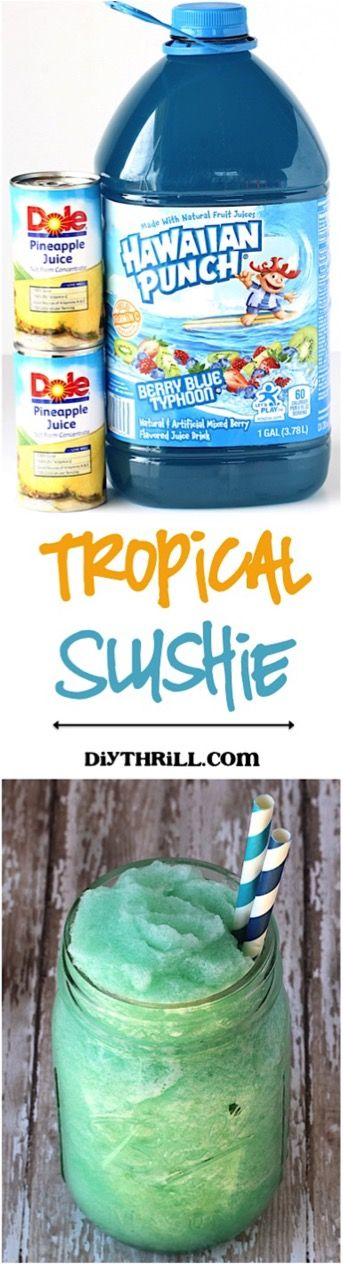 Summer is coming and the best way to enjoy a hot day is with Easy Tropical Slush Recipe! This yummy taste of the tropics is so easy and so refreshing.  Head on over to DIYThrill for the recipe… See Also:
