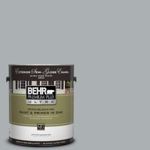 BEHR Premium Plus Ultra, 1-gal. #N500-3 Tin Foil Semi-Gloss Enamel Exterior Paint, 585401 at The Home Depot - Mobile