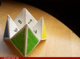 childhood paper game turned prayer game!
