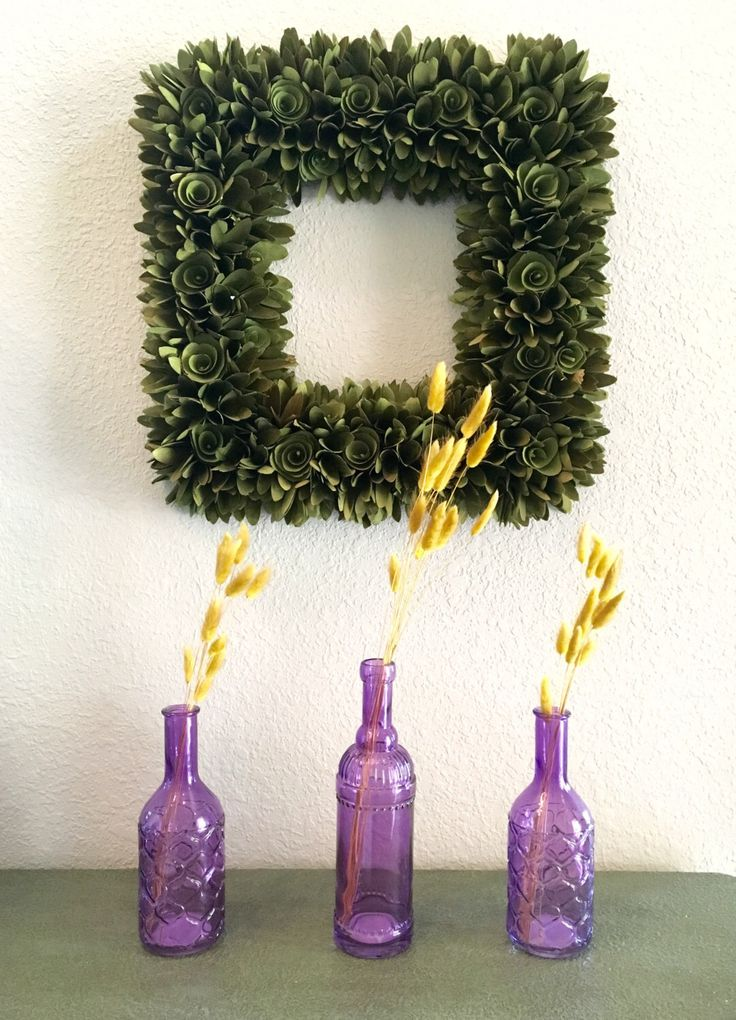 A personal favorite from my Etsy shop https://www.etsy.com/listing/458461358/3pc-set-purple-decorative-bottle-with