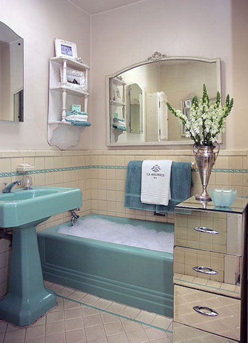 Cool Retro Bathrooms 251 best architecture -- historic bathrooms images on pinterest